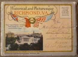 USA.RICHMOND.VA.HISTORICAL AND PICTURESQUE.PETIT DEPLIANT DE VUES COLRISEES.RARE+++ - Etats-Unis