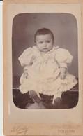 PHOTO SUR CARTON - JOLI BÉBÉ  - B. GERBY - TOULON - - Ancianas (antes De 1900)