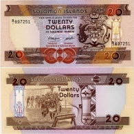 SOLOMON IS.         20 Dollars       P-16a       ND (1986)       UNC - Salomons