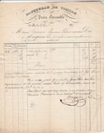 Facture 27/6/1837 MARQUIEN Papeterie De VIZILLE Isère Pour Dornan Carpentras Vaucluse Cachet Postal - 1800 – 1899