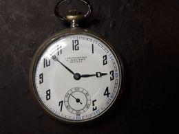Montre Gousset Chronometre L HAYART BEZIERS ARGENTAN FONCTIONNE BEL ETAT - Montres Anciennes