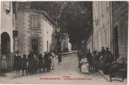 CPA 11 RENNES Les Bains Le Grand Hôtel Et La Poste - France