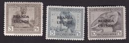 Ruanda-Urundi - COB 59-61 Avec Traces De Charnières - Ruanda-Urundi