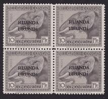 Ruanda-Urundi - COB 61 En Bloc De 4 Sans Gomme - Ruanda-Urundi