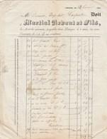 Facture 24/2/1836 MARTIAL ARDANT Imprimeur Lithographe LIMOGES Pour Dornan Carpentras Vaucluse Cachet Postal - 1800 – 1899