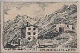 Silvretta-Haus Und Hütte - Sekt. St. Gallen SAC - Künstlerkarte - GR Grisons