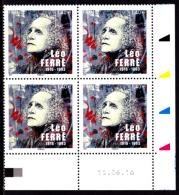Coin Daté France 2016, 1.40 € X 4, CD 15.06.16, Léo Ferré, C215, Street Art - Dated Corners