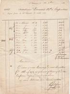 Facture 12/10/1838 PUGNET Frères ST CHAMOND Loire Pour Dornan Carpentras Vaucluse - 1800 – 1899