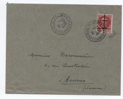1944 - ENVELOPPE Avec TàD CHAMBRE DES COMPTES LILLE (NORD) Sur TIMBRE DE LA LIBERATION - Marcophilie (Lettres)