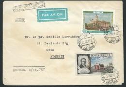 Lsc Par Avion De MOKBA , Affranchie Pour Oran (Algérie ) En Nov 1955    Kub2518 - 1923-1991 URSS