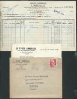 Lac ,affranchie Par Type Gandon N° 721 Oblitéré Tours Gare En Octobre 1947  Pour Bourgueil    Kub2522 - 1945-54 Marianne De Gandon