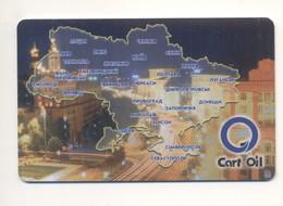 UKRAINE Fuel Card Cart Oil PETROL BENZINE GASOLINE GAS - Tarjetas De Regalo
