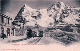Wengernalp, Gare Et Train, Chemin De Fer, Cachet Bleu Rectangulaire WENGERNALP 26 SEPT. 02 (329) - BE Berne