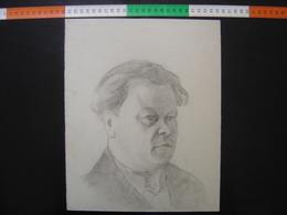 HOMME Issu D'un Carton A Dessin De JULIEN DURIEZ Autoportrait ? 2 - Drawings