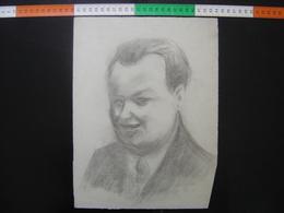 HOMME Issu D'un Carton A Dessin De JULIEN DURIEZ Autoportrait ? 3 - Drawings