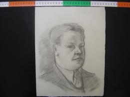HOMME Issu D'un Carton A Dessin De JULIEN DURIEZ Autoportrait ? 4 - Drawings