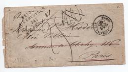 1874 - ENVELOPPE LOCALE De PARIS Avec TAXE TAMPON 40 RECTIFIEE 25 -> RETOUR A L'ENVOYEUR 347 - 1849-1876: Classic Period