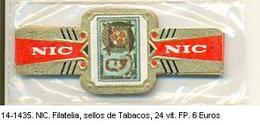 Vitolas NIC. Filatelia, Sellos De Tabacos. Ref. 14-1435 - Vitolas (Anillas De Puros)