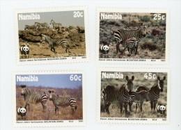 Namibie 1991-Zebre Des Montagne WWF-YT 659/62***MNH - Namibie (1990- ...)