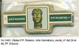 Vitolas P.P. Rubens, Arte Germánico, Del Nº 24 Al Nº 48. Ref. 14-1443 - Vitolas (Anillas De Puros)