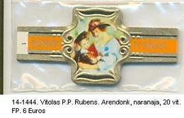 Vitolas P.P. Rubens, Arendonk, Naranja. Ref. 14-1444 - Vitolas (Anillas De Puros)