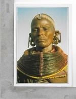 CARTOLINA NV DE AGOSTINI - KENYA - Donna Samburu In Costume Locale - Vedute Dal Mondo - 10 X 15 - Kenia