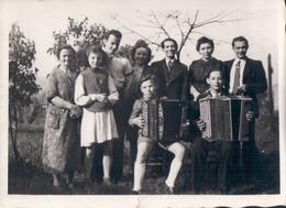Foto Photo (6 X 9 Cm) 2x Jongen Met Accordeon Accordéon Akkordeon - Muziek