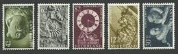 NETHERLANDS 1962 WELFARE ART PAINTINGS CATS AMONITE CLOCKS SHIPS FIGUREHEAD MNH - Unused Stamps