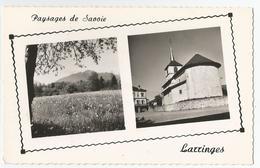 74 Haute Savoie - Larringes L'église Et Vue Sur Les Monts Du Chablais 1960 - France