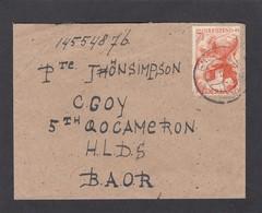 """BRIEF VON ENSCHEDE AN EINEN SOLDAT DER """"BRITISH ARMY OF THE RHIN""""(B.A.O.R.),1946. - Period 1891-1948 (Wilhelmina)"""