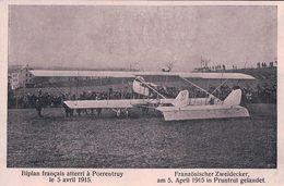 Porrentruy, Biplan Français Atteri En Suisse Le 5 Avril 1915 (7.5.1915) - Weltkrieg 1914-18