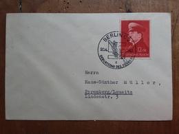 GERMANIA III REICH - 52° Compleanno Hitler Su Busta Con Annullo Speciale + Spese Postali - Germania