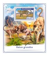 MOZAMBIQUE 2018 MNH** Big Cats Großkatzen Raubkatzen Grands Chats S/S - OFFICIAL ISSUE - DH1817 - Big Cats (cats Of Prey)