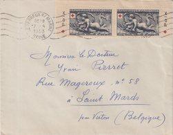 FRANCE : N° 938 . PAIRE DE CARNET . AVEC PUB . CROIX ROUGE . 1952 . - 1921-1960: Periodo Moderno
