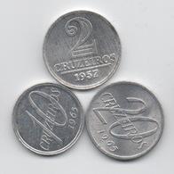 Brésil : Lot De 3 Pièces En Aluminium 1957-1965 - Brasil