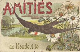 Boudeville (76 - Seine Maritime) Amitiés - Hirondelle - Altri Comuni