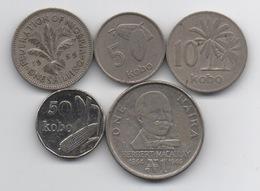 Nigeria : Lot De 5 Pièces 1959-2006 - Nigeria