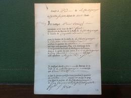 1746 CHATAIGNERAIE (79 Vendée)> Chatillon (75)recu Postal (lettre Cheval France Malle Postale - Marcophilie (Lettres)
