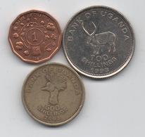 Ouganda : Lot De 3 Pièces 1987-2003 - Ouganda