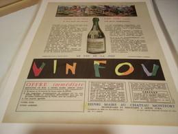 ANCIENNE AFFICHE PUBLICITE LES VIN FOU DE  HENRI MAIRE  1962 - Alcoholes