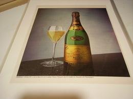 ANCIENNE PUBLICITE CHAMPAGNE VEUVE CLICQUOT PONSARDIN 1970 - Alcoholes