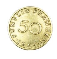 50  Francs - Sarre - France - Cupro Alu. - 1954 - TTB - - Sarre (1954-1955)