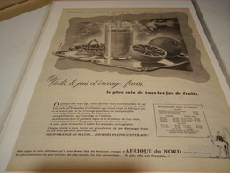 ANCIENNE PUBLICITE JUS D ORANGE FRAIS 1953 - Posters