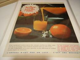 ANCIENNE PUBLICITE JUS D ORANGEDU MATIN 1960 - Posters