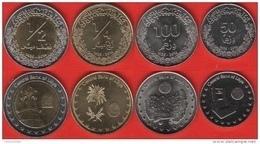 Libya Set Of 4 Coins: 50 Dirhams - 1/2 Dinar 2014 UNC - Libya