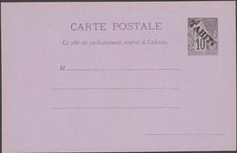Tahiti, Polynésie Française 1893. Carte Postale, Entier Surchargé « Tahiti ». Voilier, Ancre, Drapeau. Fraîcheur Postale - Tahiti
