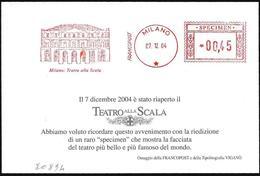 """Italia/Italy/Italie: Ema, Meter, Specimen, """"Teatro Alla Scala"""" - Music"""