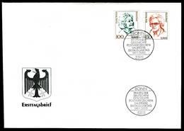 40695) BRD - Mi 2149 / 2150 - FDC - 100-110Pf/51-56C               Frauen XIX - FDC: Briefe