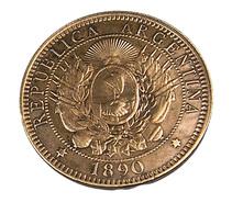 2 Cent - Argentine - 1890 - Bronze - TB + - - Argentine