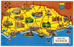 MAP : ENGLAND - SUSSEX - Maps